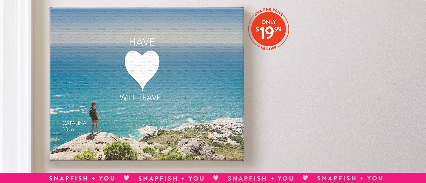 Hang your heart out : Use CANVAS1999 to save 58% on 11x14 canvas prints.