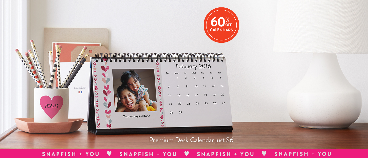 365 days of love : Use KISSES16 to see your favorite smiling faces every day.